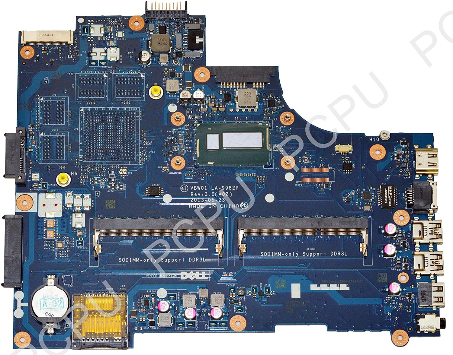 7DHY3 Dell Inspiron 15R 5537 Laptop Motherboard w/Intel i5-4200U 1.6GHz CPU