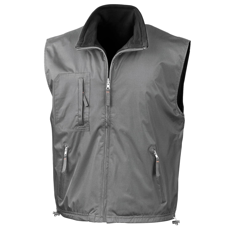 Result R061X Reversible Active Fleece Bodywarmer Slate Grey/Black L