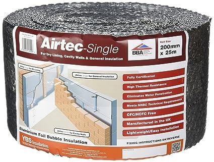 Airtec Airtec Single 200mm x 25m x 3.7mm - Accesorio para el aislamiento del hogar