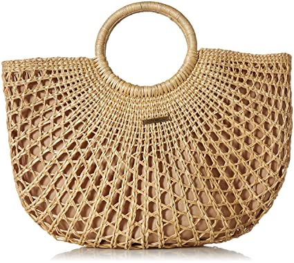 538b07623 Amazon.com: O'Neill Women's Sayulita Woven Straw Tote, Natural, One Size:  Clothing