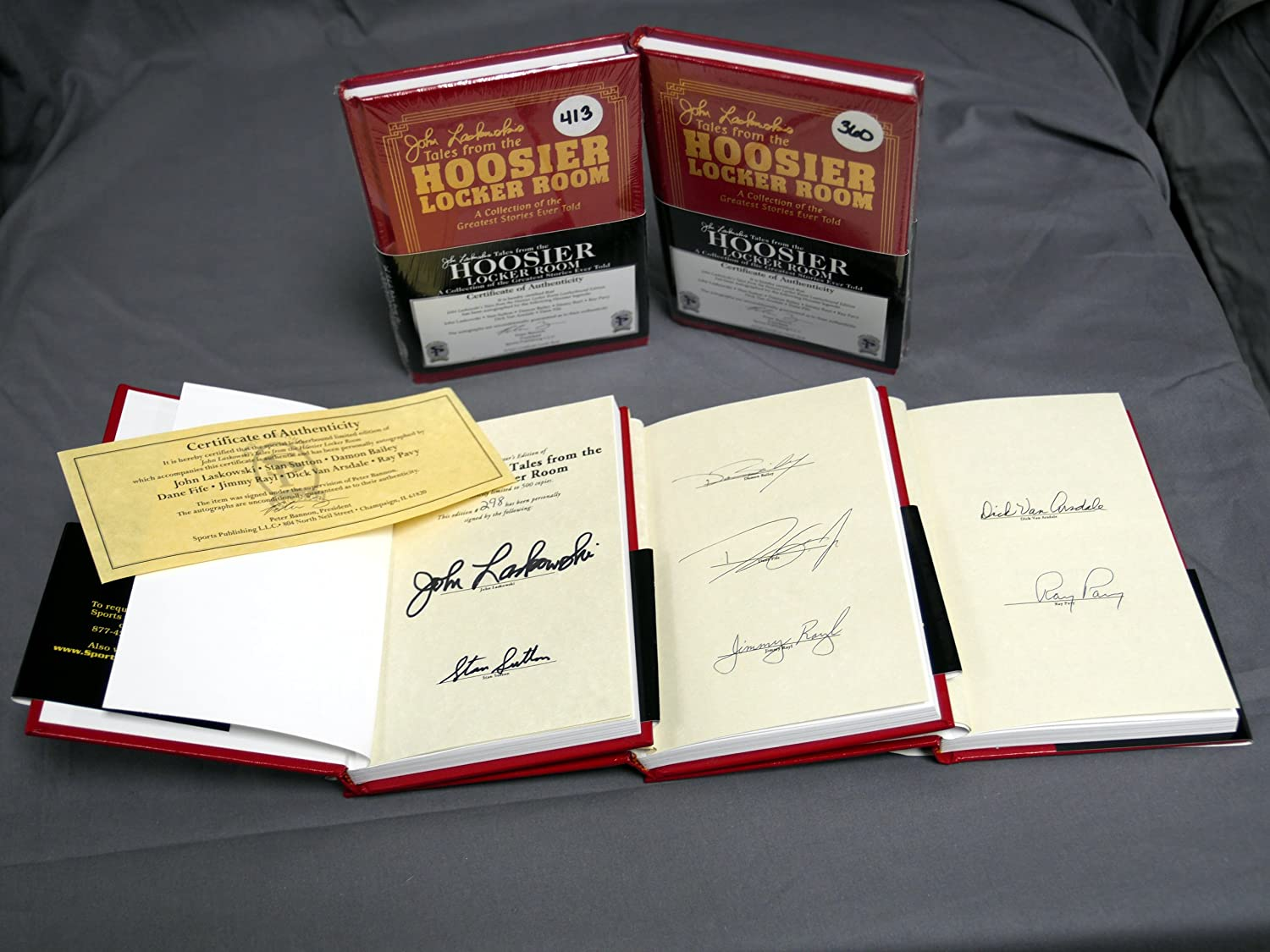 Signed John Laskowski's Tales From the Hoosier Locker Room Leatherbound Edition 7 Legends Autographs