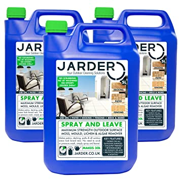 Jarder 3 X 5 Litre Concentrate Spray U0026 Leave Cleaner   Patio Fencing Decking    Moss