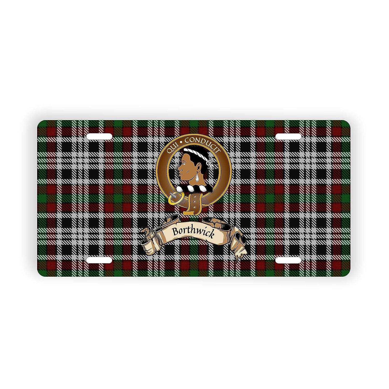 Borthwick Scotland Clan Tartan Novelty Auto Plate