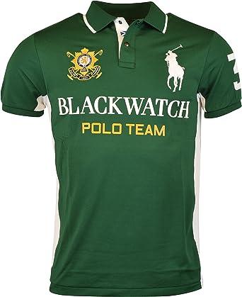Polo Ralph Lauren para hombre custom-fit negro reloj Pieced Polo ...