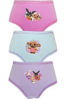 Aumsaa ragazze BING bambini personaggi 100/% Slip di cotone Intimo Sottoveste Slip confezione da 3