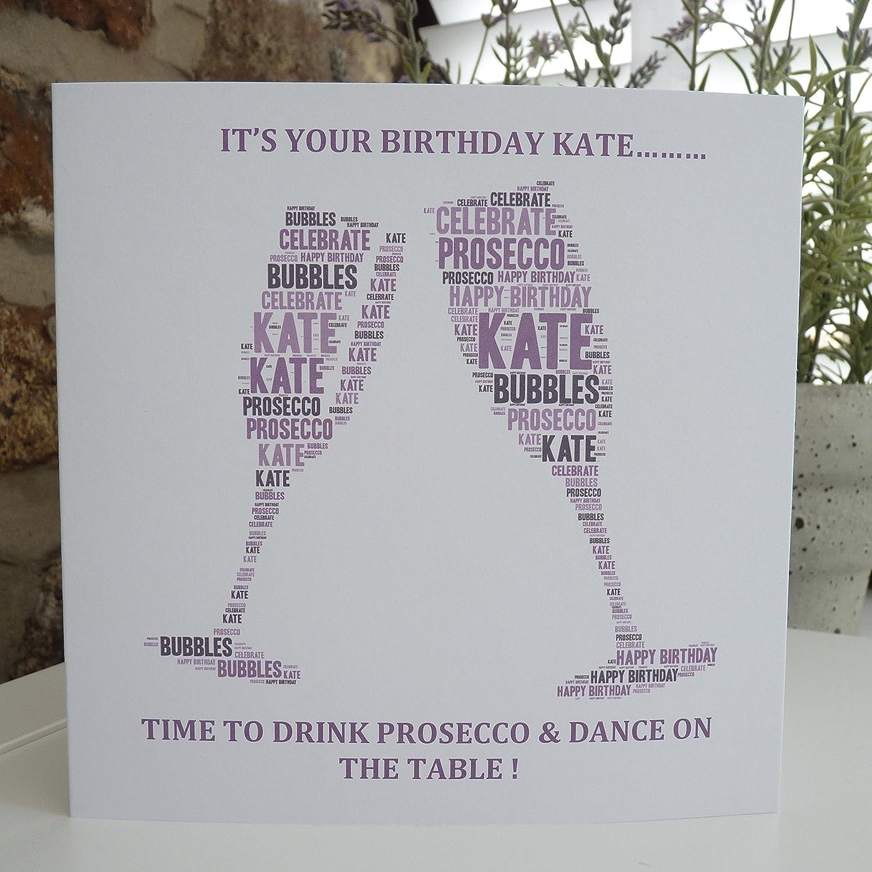 Amazon Personalized Birthday Card Personalized Prosecco Card