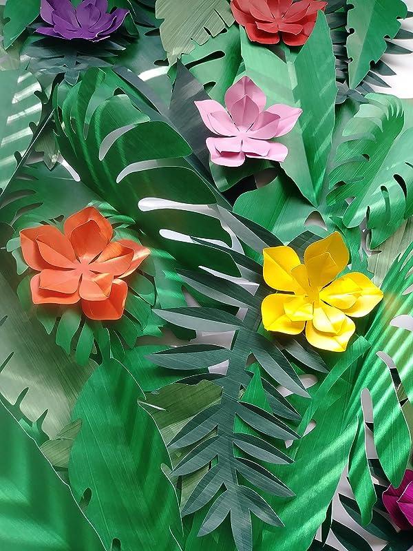 Paper Tropical leaves decor Palm leaves Jungle leaves Greenery decor Wedding backdrop Diy wall garland Nursery room decor
