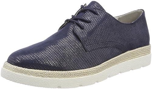 s.Oliver 23659, Zapatos de Cordones Oxford para Mujer, Azul (Navy), 36 EU