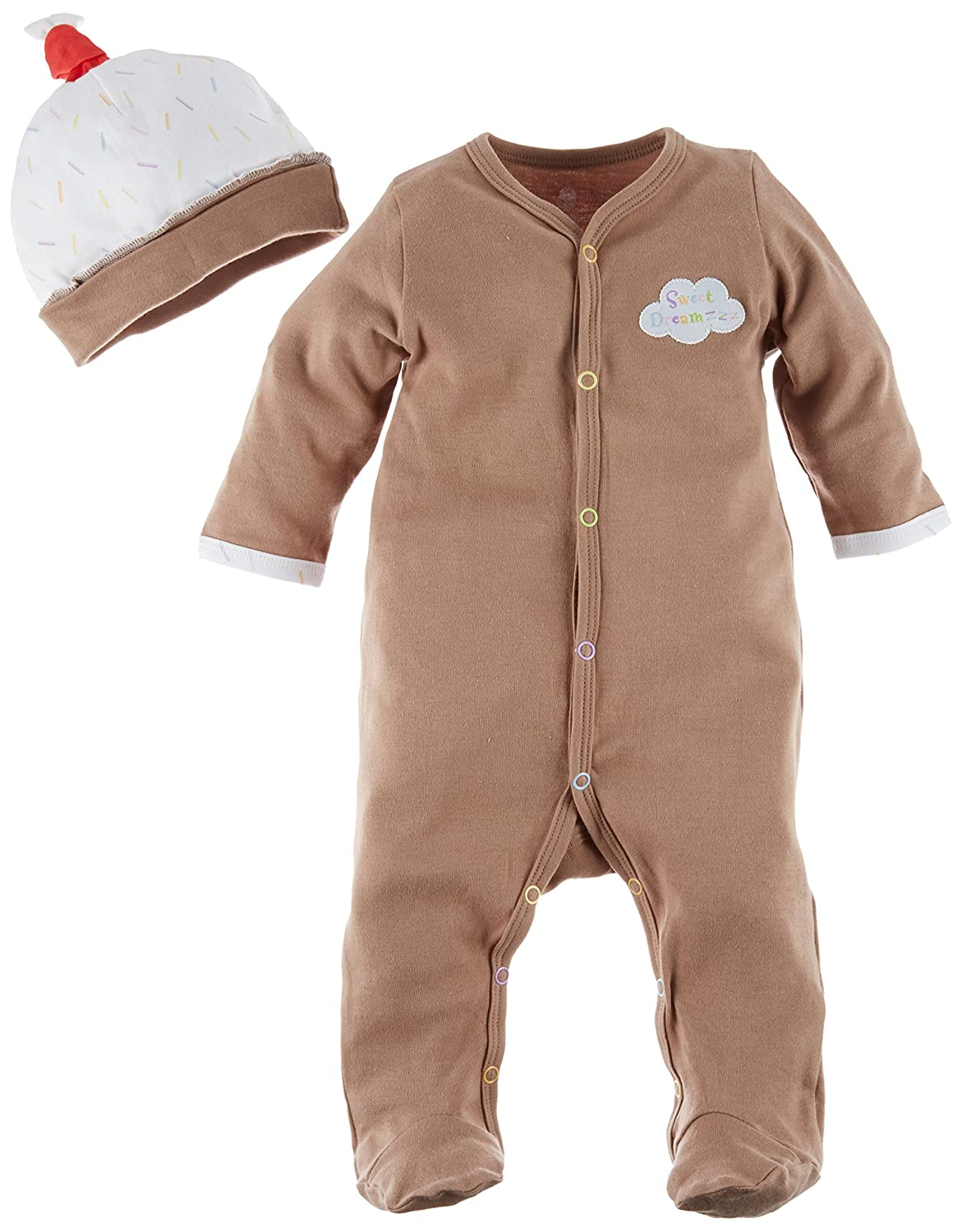 Baby Aspen Sweet Dreamzzz Pint of PJ's Sleep Time Gift Set, 0-6 Months, Chocolate BA16008BR