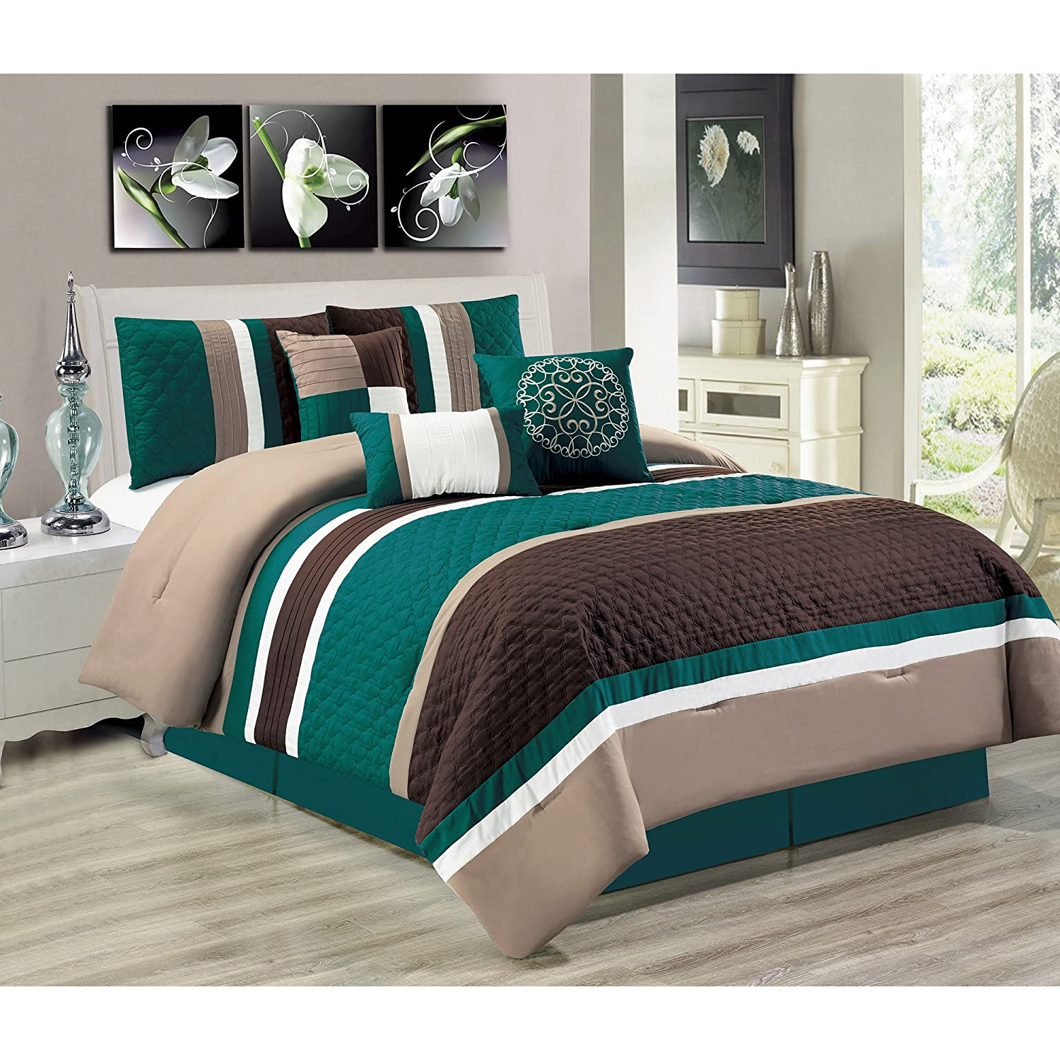 Safdie & Co. Cameron Collection 7 Piece Comforter Set, King 60506.7K.82