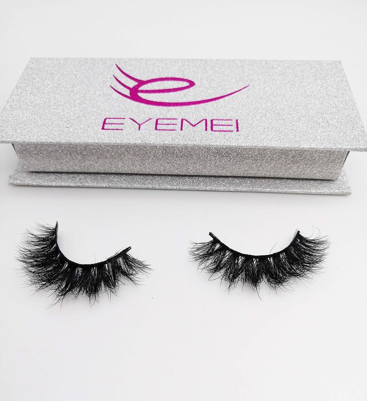 0d4ea10a593 Amazon.com : 3D Mink Lashes 100% Siberian Handmade Wispy Mink Fur False  Eyelashes Reusable Faux Eyelash Strip 1 Pairs Pack by EYEMEI : Beauty