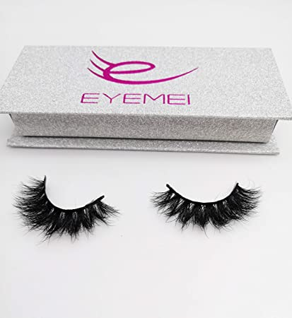 1a759e0b270 Amazon.com : 3D Mink Lashes 100% Siberian Handmade Wispy Mink Fur False  Eyelashes Reusable Faux Eyelash Strip 1 Pairs Pack by EYEMEI : Beauty