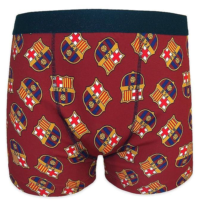 774dd8403f046 FC Barcelona - Calzoncillos oficiales de estilo bóxer - Para hombre - Con  el escudo del club  Amazon.es  Ropa y accesorios