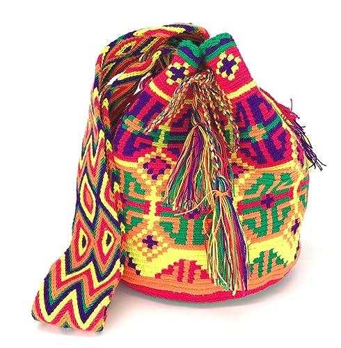 Wayuu Mochila, Bolsos Colombianos Artesanales con motivos tribales (VALLEDUPAR)