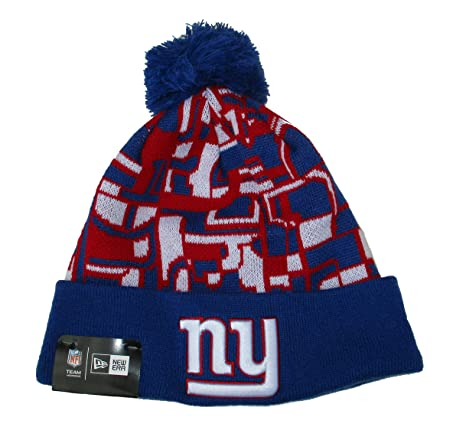 a2c71c70ee9 Image Unavailable. Image not available for. Color  New York Giants New Era  Knit Cuff Pom Beanie Hat Cap - Team Colors