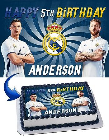 Real Madrid Cristiano Ronaldo Sergio Ramos Birthday Cake