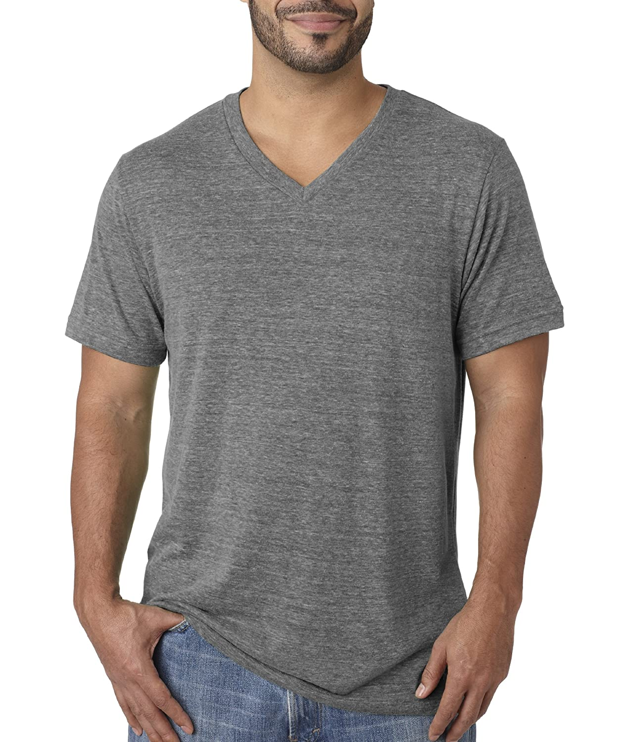 1a8836041ab7 Bella+Canvas 3415 - Unisex Triblend V-Neck T-Shirt | Amazon.com