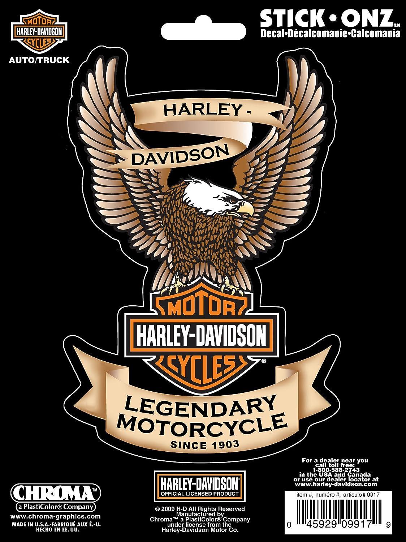 Amazon Com Chroma 9917 Harley Davidson Eagle Stick Onz Decal