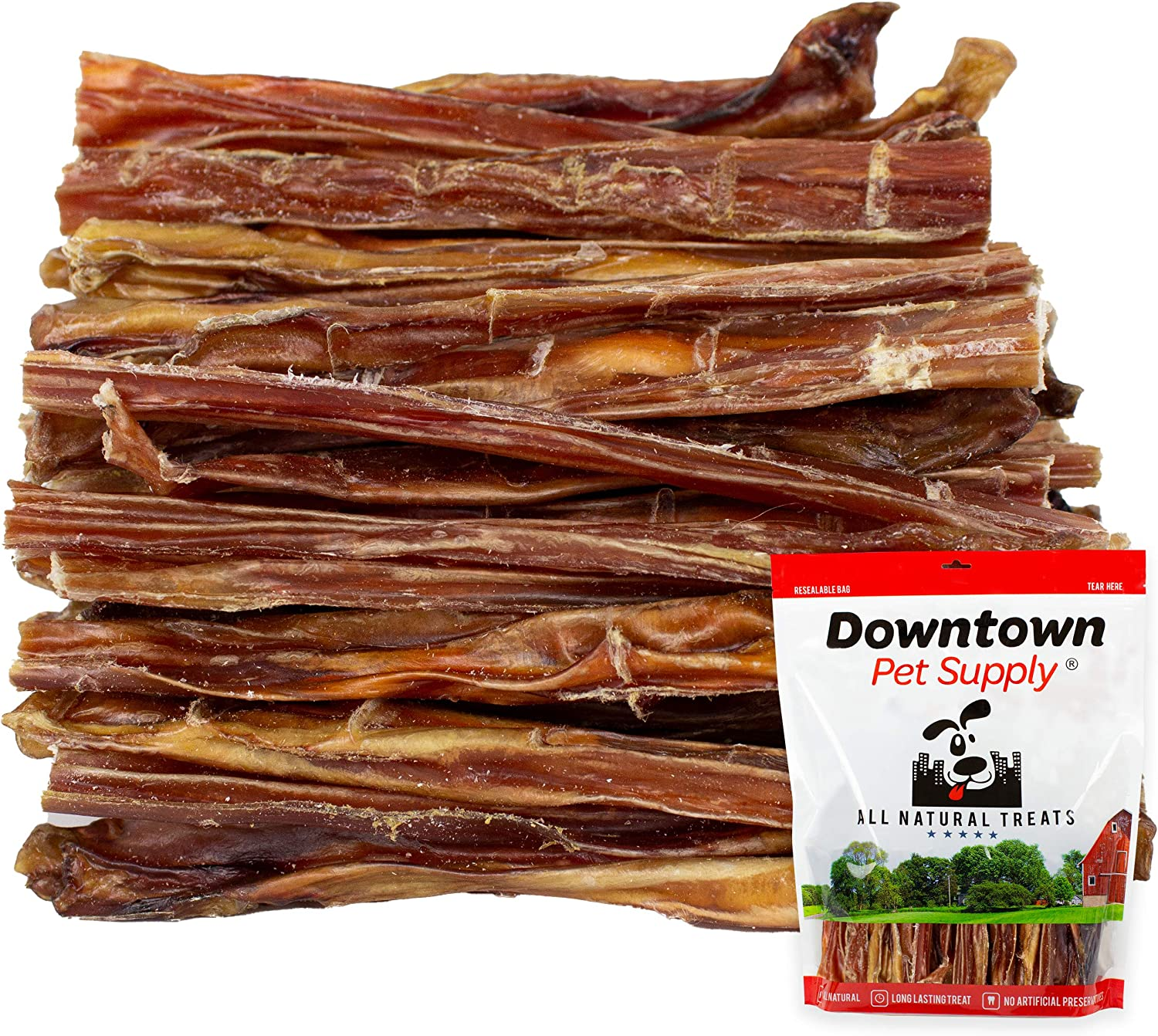 Downtown Pet Supply 6 Junior American Thin USA Bully Sticks for Dogs (Bulk Bags by Weight) Made in USA - Odorless All Natural Dog Dental Chew Treats (6 Inch, 0.5 LB)