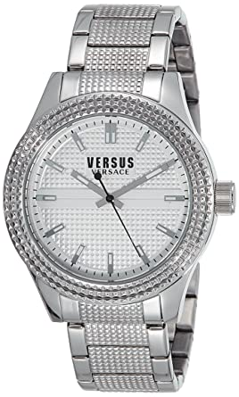 amazon com versus by versace men s sot070015 bayside analog versus by versace men s sot070015 bayside analog display quartz silver watch