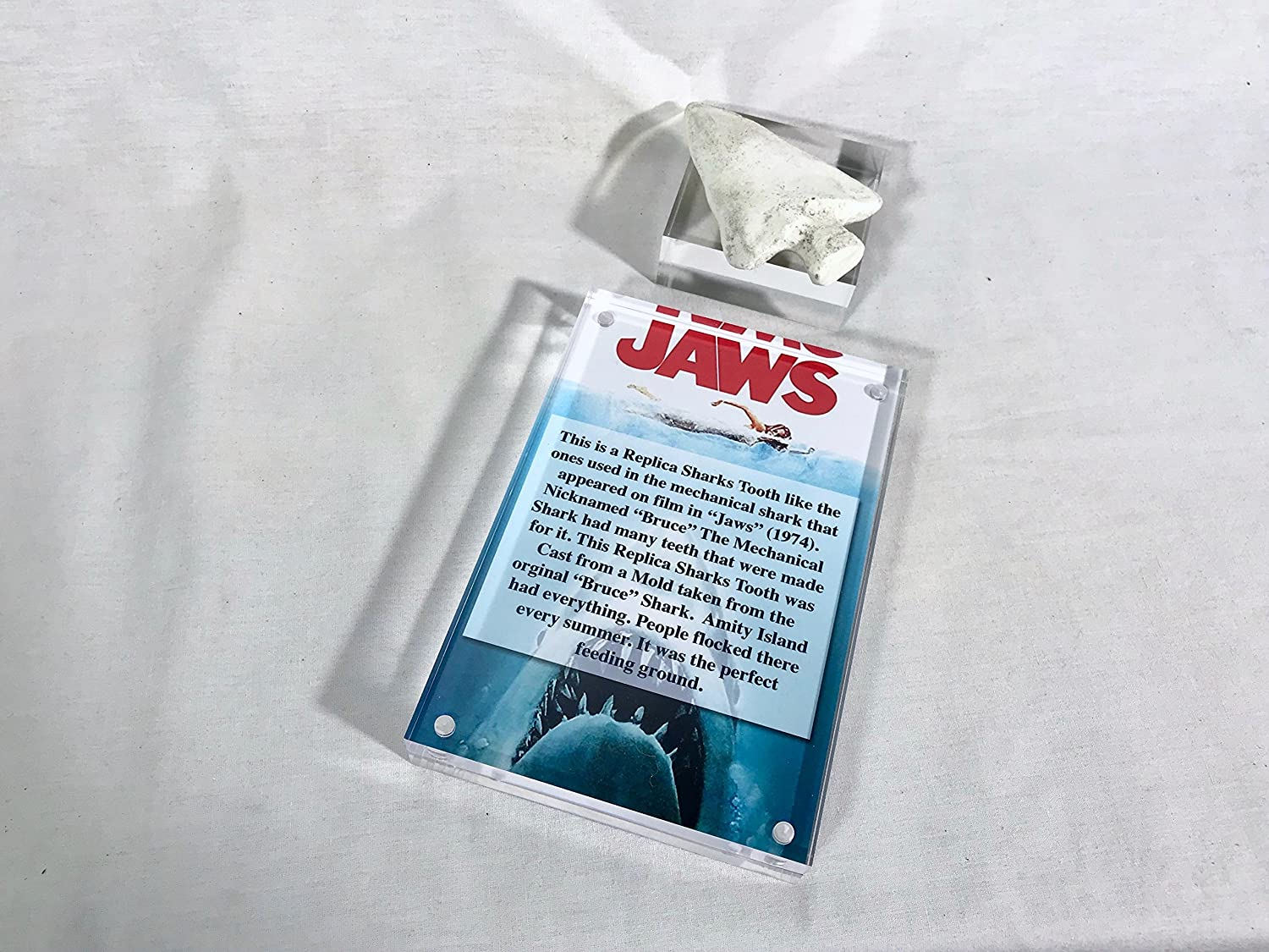 1975 JAWS Theater Movie Release REPLICA METAL SIGN GREAT WHITE SHARK