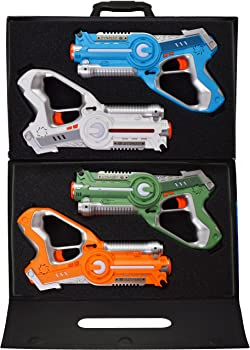 4-Pack Dynasty Toys Laser Tag Set and Carrying Case