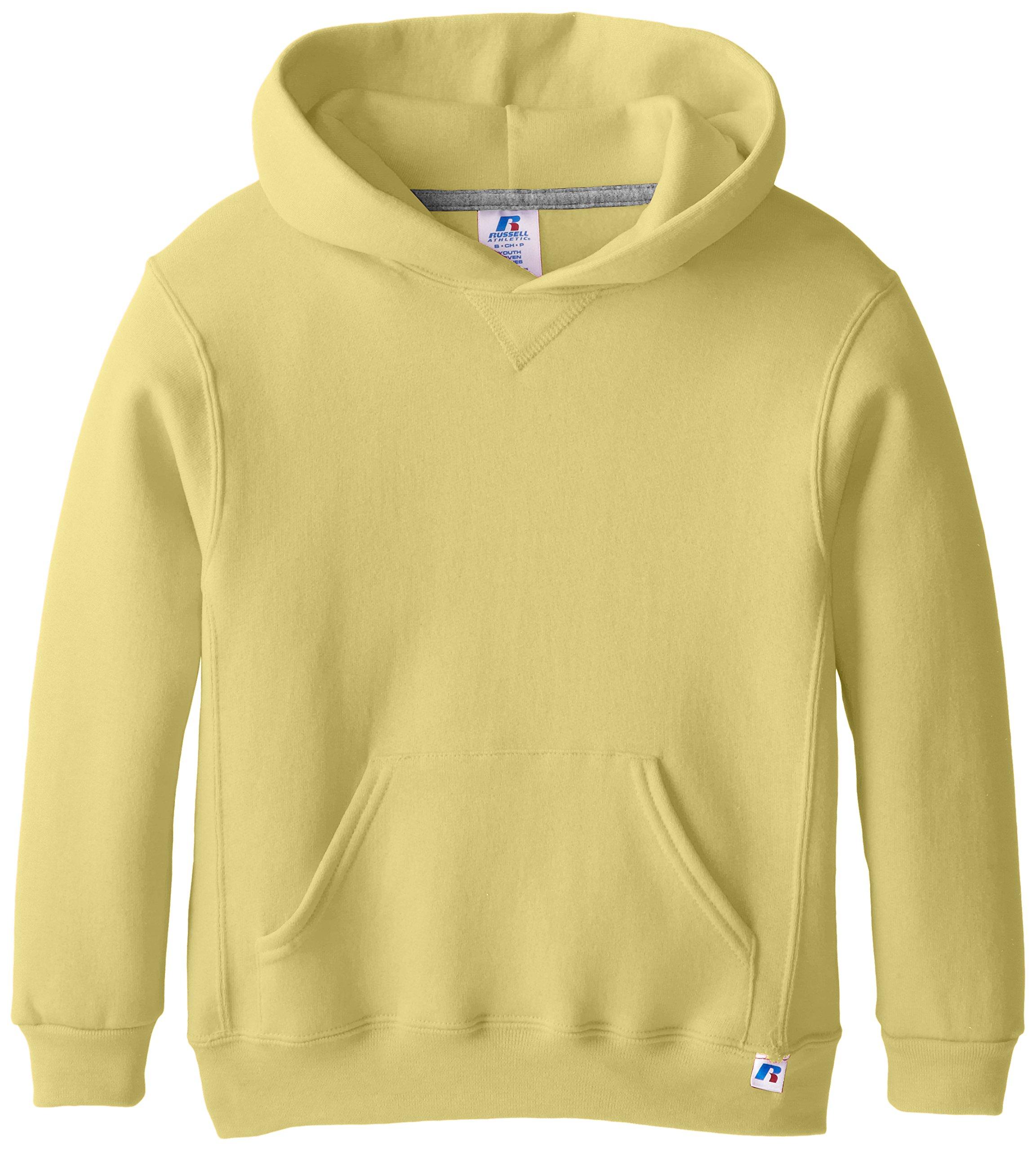 Russell Athletic Big Boys' Fleece Pullover Hood, Gold, Medium
