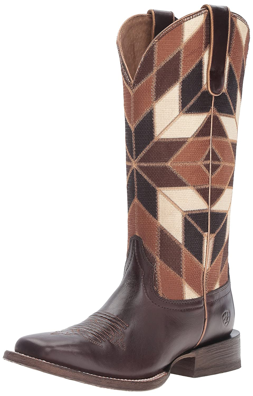 Ariat Women's Mirada Western Cowboy Boot B01BQV3V0M 7 B(M) US|Bittersweet Chocolate/Shades of Brown