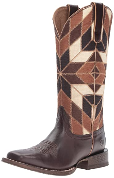 Ariat Women's Mirada Western Cowboy Boot, Bittersweet Chocolate/Shades Of  Brown, ...