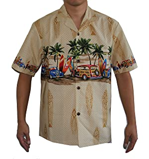 d6886eb1 Men's Waikiki Woody Hawaiian Aloha Shirt Blue at Amazon Men's ...
