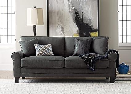 Serta UPH100024 Copenhagen, 78u0026quot; Sofa, Windsor Gray