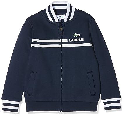 Lacoste Sport SJ5727, Sweat-Shirt Garçon, Bleu (Marine Blanc), 8 Ans ... a99370b6a7d1