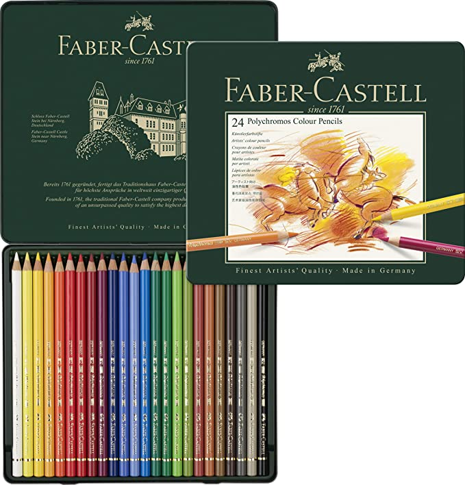 Faber-Castell Polychromos Colour Pencils Tin of 60