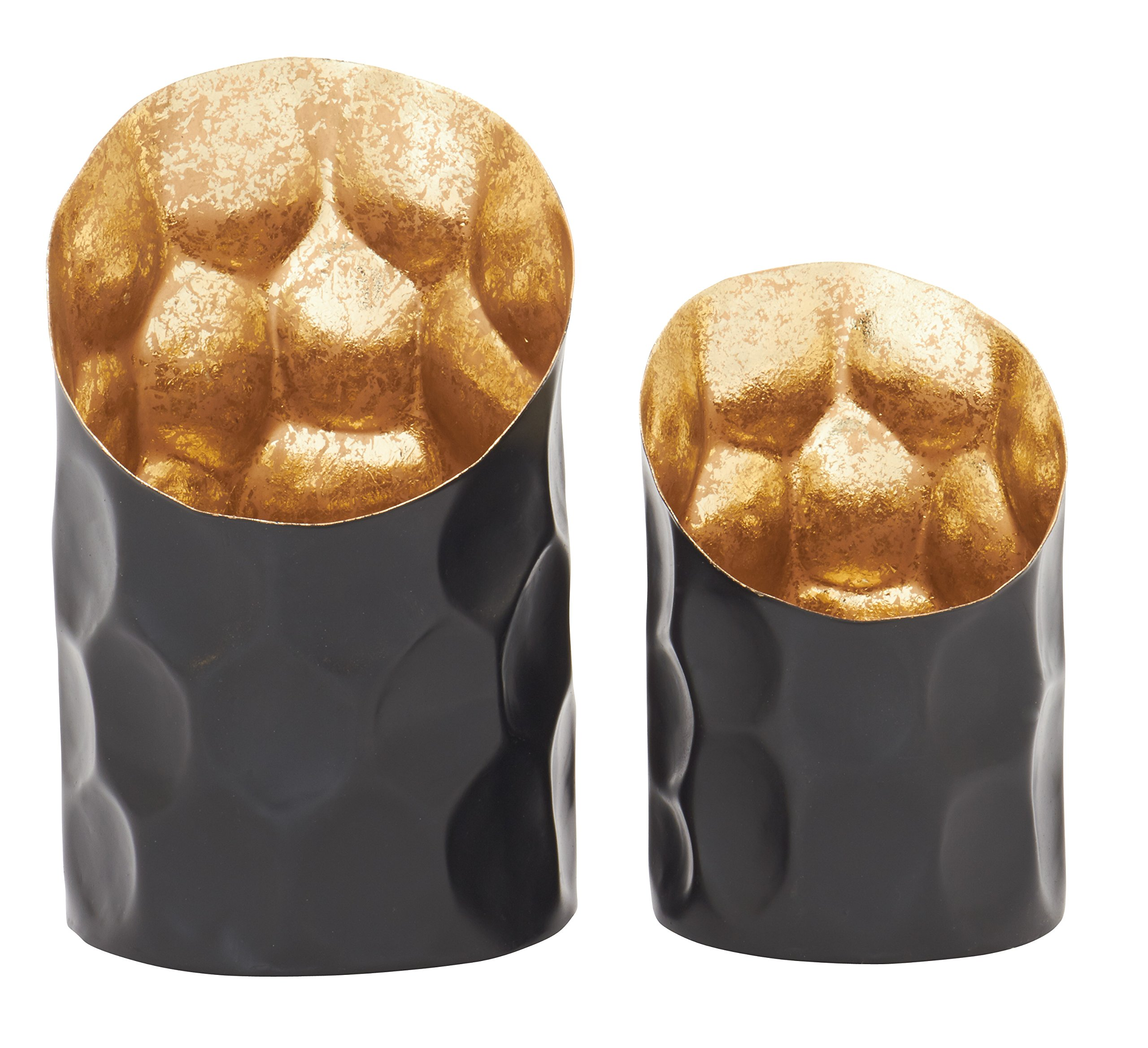 Deco 79 47592 Fabulous Metal Candle Holder, Set of 2