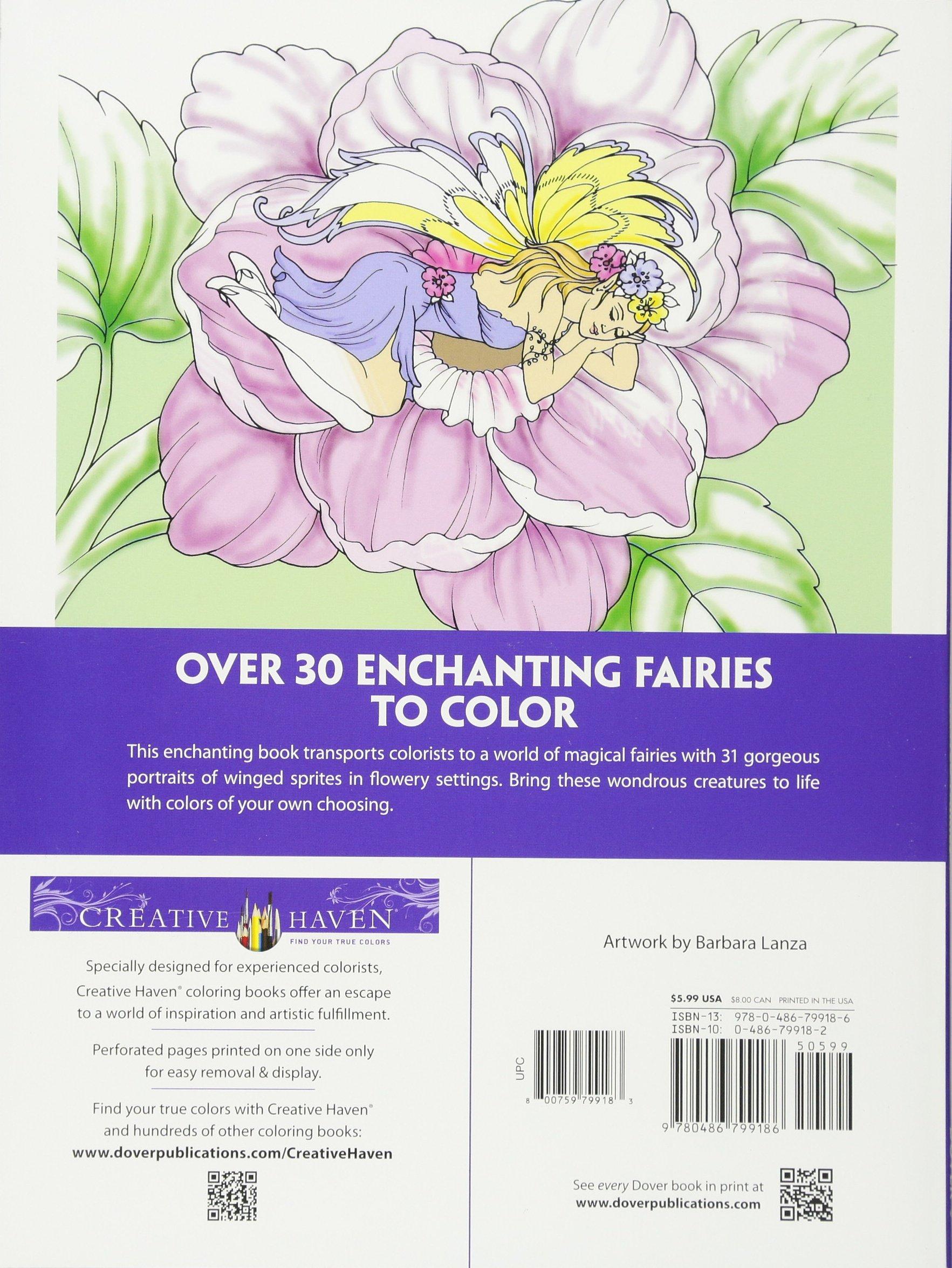 Amazon Creative Haven Enchanted Fairies Coloring Book Adult 0499995300569 Barbara Lanza Books