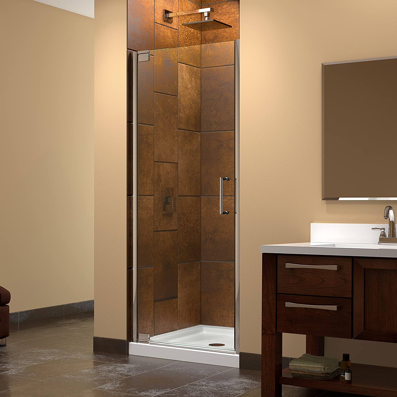 Dreamline elegance 34 36 in width frameless pivot shower door 38 dreamline elegance 34 36 in width frameless pivot shower door 38 glass chrome finish amazon planetlyrics Gallery