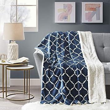 Amazon.com: Comfort Spaces Sherpa/manta de felpa para sofá ...