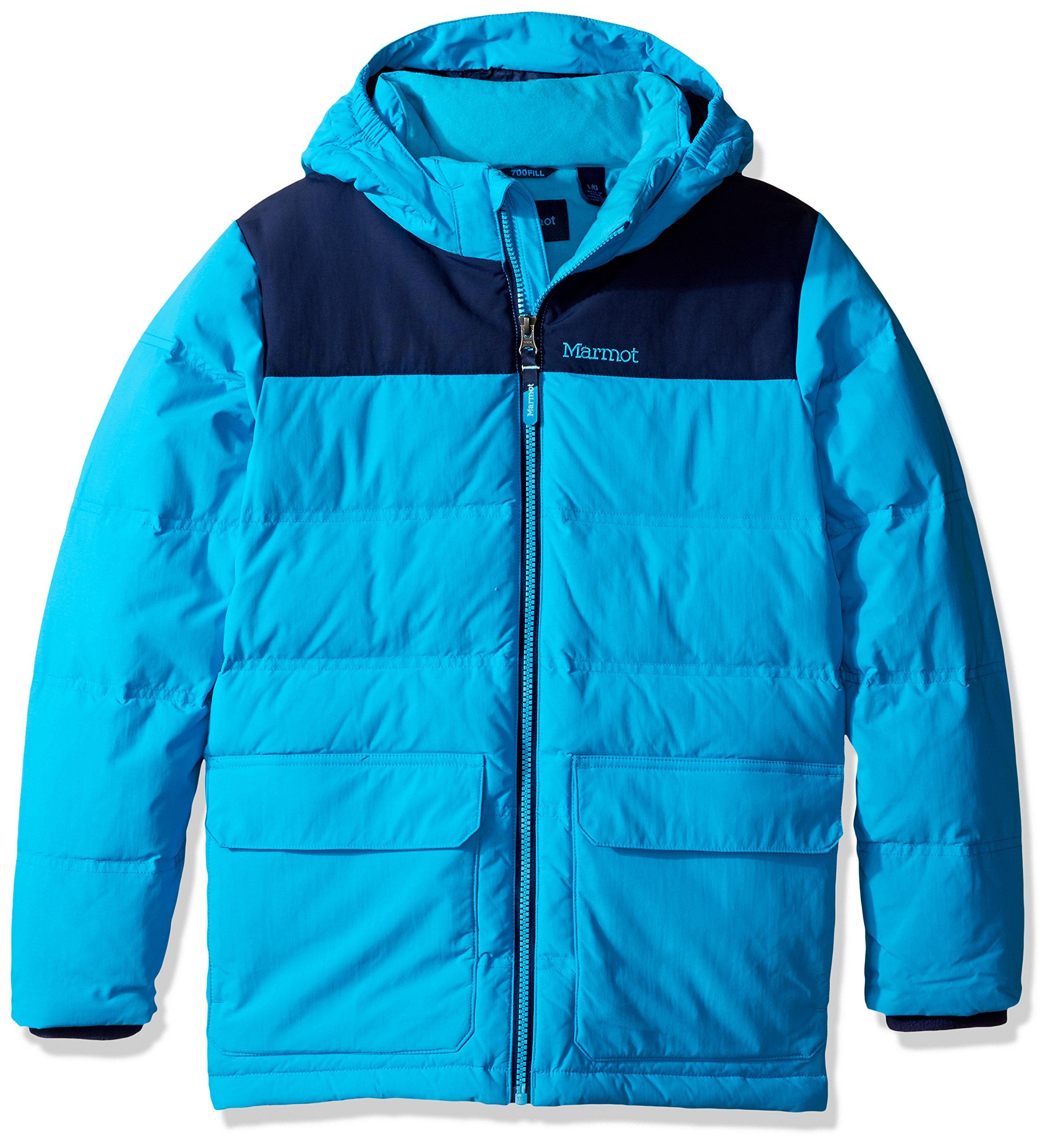 Marmot Boys' Rail Jacket (Big), Bahama Blue/Arctic Navy, SM (6/7 Little Kids)