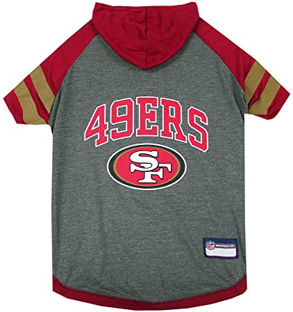 Amazon.com   NFL SAN Francisco 49ERS Hoodie for Dogs   Cats.  28a6f0690