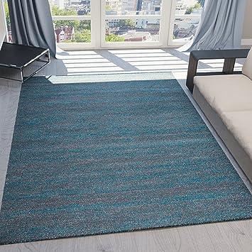 Teppich Kurzflor Wohnzimmer Meliert Mehrfarbig Beige Braun Türkis Grau Blau Türkis  Grau Rosa Grün Pflegeleicht Robust