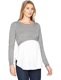 73132c33186 Ripe Maternity Women s Maternity Babydoll Nursing Sweater