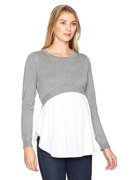 Ripe Maternity Women s Babydoll Nursing Sweater  Amazon.com.au  Fashion 41d3f6055