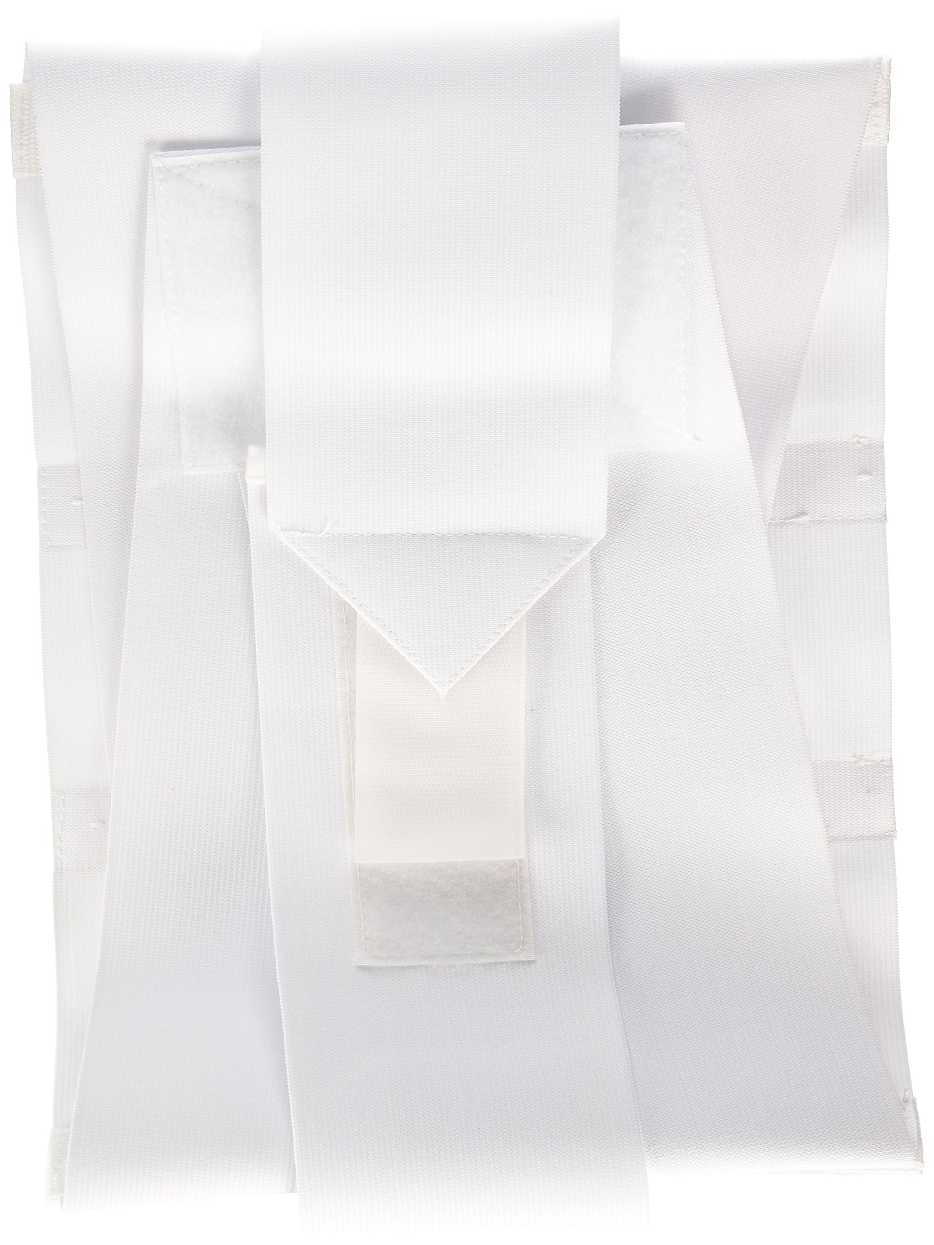 Bilt-Rite Mastex Health 10 Inch Criss-Cross Support with Steels, White, X-Large