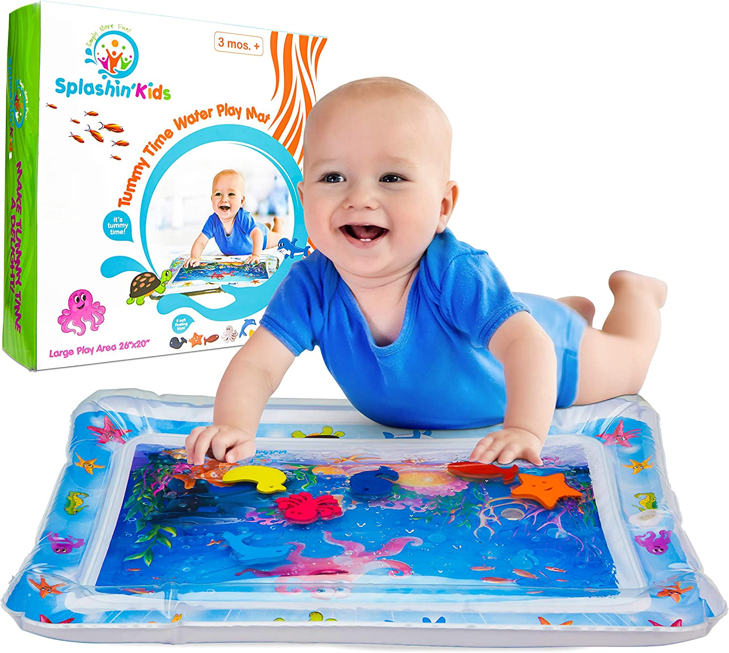 Splashin/'kids Inflatable Tummy Time Premium Water mat Infants /& Toddlers is The