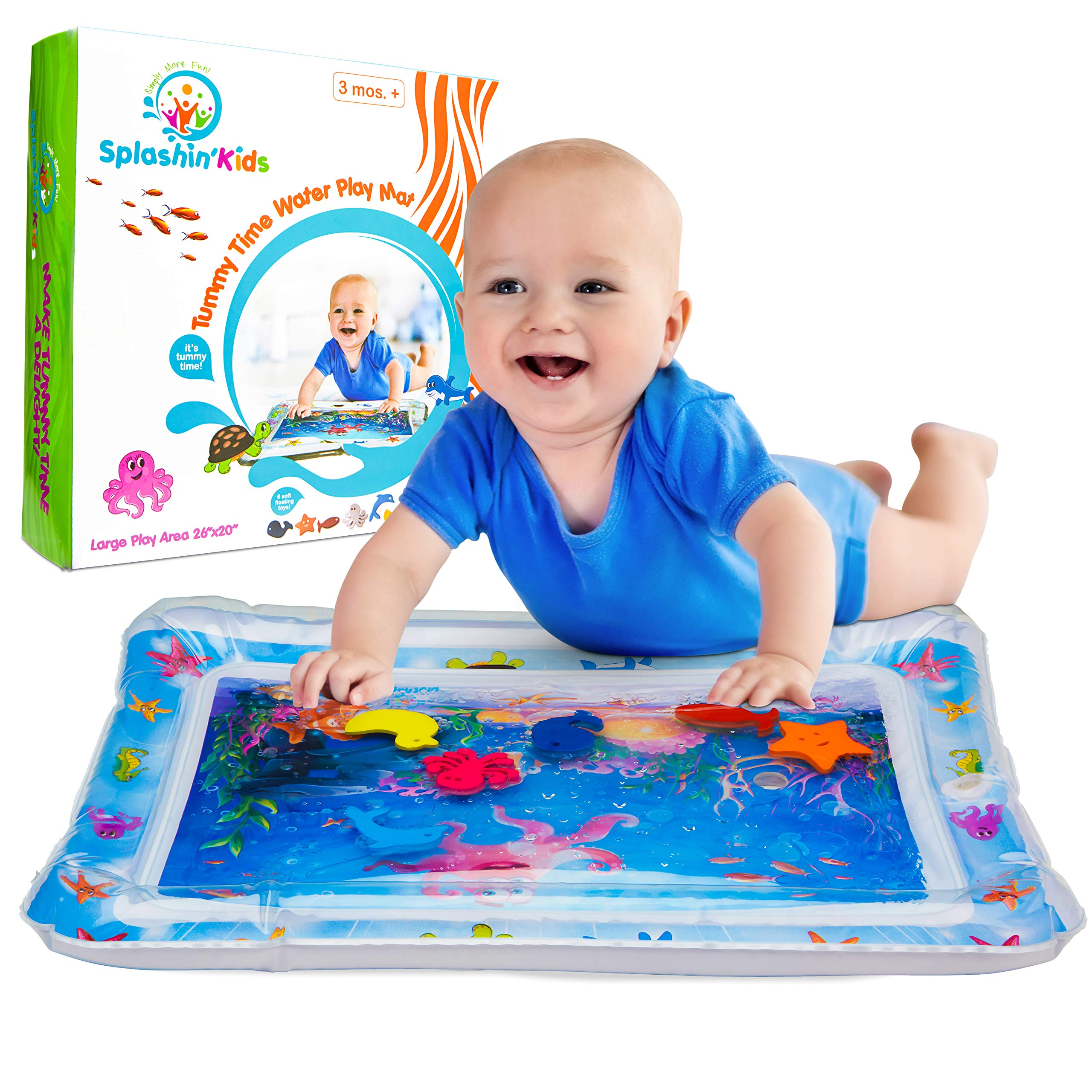 Splashin'kids Inflatable Tummy Time Premium Water mat for Infants & Toddlers is The Perfect Fun time Play Activity Center for Your Baby's Stimulation and Growth by Splashin'kids (Image #1)