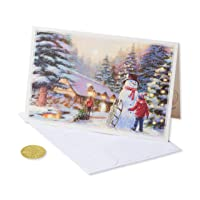 Deals on 14-CT American Greetings 6027148 Premium City Kids and Snowman