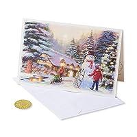 14-CT American Greetings 6027148 Premium City Kids and Snowman Deals