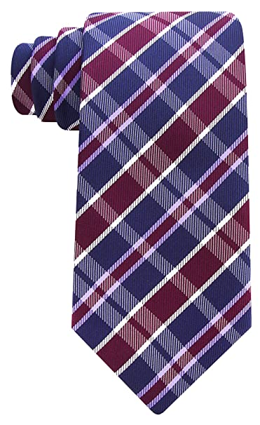 Scott Allan Mens Formal Plaid Necktie Salmon Mens Tie Silver Gray