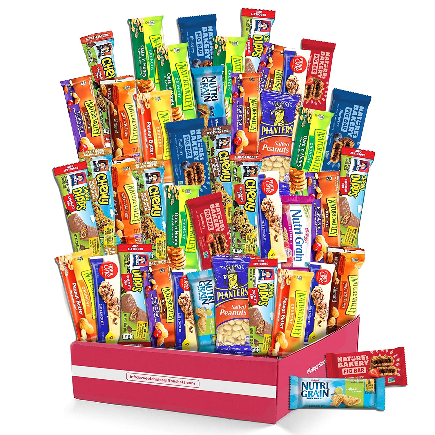 Healthy Snacks and Bars Variety Pack Gift Snack Box care package Granola Bars- Bulk Sampler(40 count)