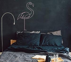 Metal Wall Art Flamingo Metal Wall Decor Wall Hanging Sign Metal Flamingo Wall Decoration Housewarming Gift Living Room Wall Art Animal Art